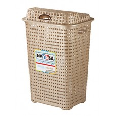 Deals, Discounts & Offers on  - Nayasa Plastic Laundry Basket, Beige