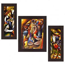 Deals, Discounts & Offers on  - Wens 'Artistic Modern' Wall Art (MDF, 30 cm x 34 cm x 1.5 cm, WSP-4242)