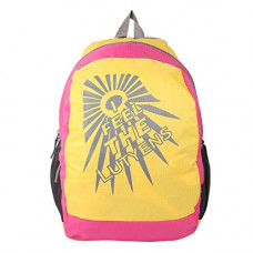 Deals, Discounts & Offers on  - Lutyens Polyester 31 L Yellow Pink School Tuition College Casual Backpack