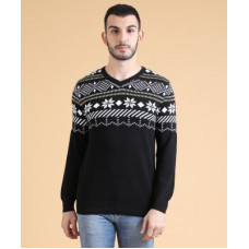 Deals, Discounts & Offers on Men - [Size XL] Fort CollinsSelf Design V-neck Casual Men Black Sweater