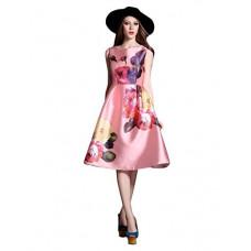 Deals, Discounts & Offers on  - [Size L] Pop Mantra Satin a-line Dress
