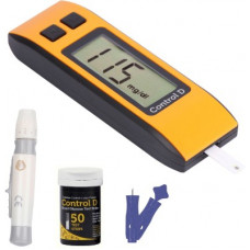 Deals, Discounts & Offers on Electronics - Control D Orange 50 Strips & Glucometer(Orange, Black)