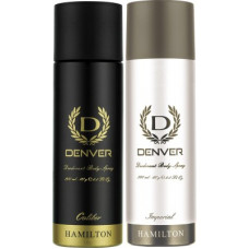 Deals, Discounts & Offers on  - Denver Caliber and Imperial Combo Deodorant Spray - For Men(400 ml, Pack of 2)