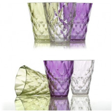 Deals, Discounts & Offers on  - Flipkart SmartBuy (Pack of 6) Plastic Unbreakable Diamond Crystal Touch Whiskey Scotch M Glass Set(250 ml, Plastic)
