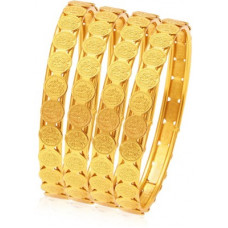 Deals, Discounts & Offers on Bangles - [Pre-Book] SukkhiAlloy Gold-plated Bangle Set(Pack of 4)
