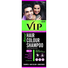 Deals, Discounts & Offers on  - VIP NATURAL HAIR COLOUR SHAMPOO 180 ML , Black
