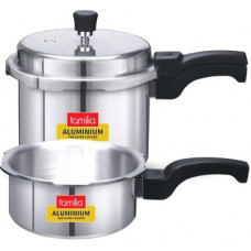 Deals, Discounts & Offers on Cookware - Familia Combo Pack 23 2 L, 3 L Induction Bottom Pressure Cooker(Aluminium)