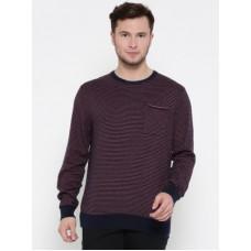 Deals, Discounts & Offers on  - [Size L, XL] Tommy HilfigerStriped Round Neck Casual Men Dark Blue Sweater