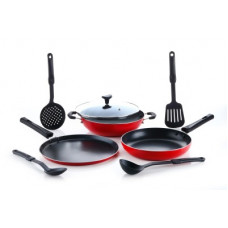 Deals, Discounts & Offers on Cookware - Crystal CLASSIC Series Cookware Set(PTFE (Non-stick), 8 - Piece)