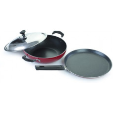 Deals, Discounts & Offers on Cookware - Crystal Vivid Series Induction Bottom Cookware Set(Aluminium, 2 - Piece)