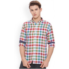 Deals, Discounts & Offers on  - [Size 40] PeopleMen Checkered Regular Fit Casual Shirt