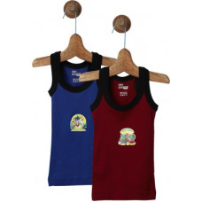 Deals, Discounts & Offers on  - [Size 2-3Y] Rupa Frontline KidsVest For Boys Cotton Blend(Maroon, Pack of 2)