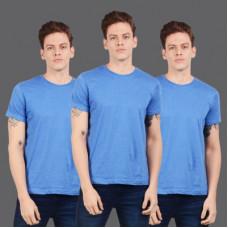 Deals, Discounts & Offers on  - [Size L] SCOTT INTERNATIONALSolid Men Round Neck Light Blue T-Shirt(Pack of 3)