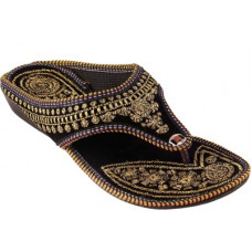 Deals, Discounts & Offers on Women - [Size 8, 9] TajnanWomen Black, Gold Wedges Sandal