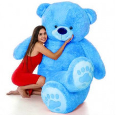 Deals, Discounts & Offers on Toys & Games - LittleBuoy Giftwa -3 Fit teddy bear so cute & soft very attractive looking (Best for Someone Special) (Sky blue) - 92 cm(sky blue)