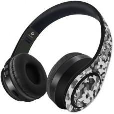 Deals, Discounts & Offers on Headphones - Kook N Keech Camo Effect Grey-Wireless Headphones Bluetooth Headset(Multicolor, On the Ear)