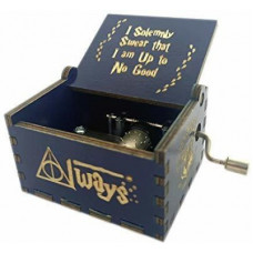Deals, Discounts & Offers on Toys & Games - EITHEO Wooden Hand Cranked Collectable Engraved Vintage Music Box - Harry Potter Dark Blue(Blue)