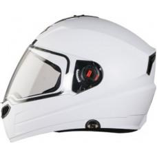 Deals, Discounts & Offers on  - Steelbird SBA-1 7Wings Hands Free Full Face Helmet Motorbike Helmet(White with Plain Visor)