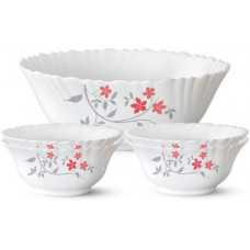 Deals, Discounts & Offers on  - [Pre Book] Larah by Borosil Rosalie Opalware Dessert Bowl(White, Pack of 5)