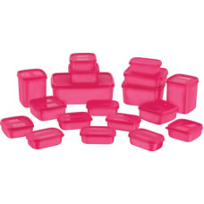 Deals, Discounts & Offers on Kitchen Containers - [Pre Book] Master Cook Combo Packs - 7170 ml Polypropylene Grocery Container(Pack of 18, Pink)
