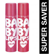 Deals, Discounts & Offers on  - Maybelline New York Baby Lips Cherry Kiss & Berry Crush(Pack of: 2, 31.2 g)
