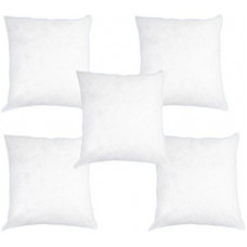 Deals, Discounts & Offers on  - [Pre Book] Pumpum Polyester Fibre Solid Cushion Pack of 5(White)