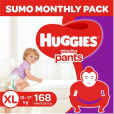 Deals, Discounts & Offers on Baby Care - Huggies Wonder Pants with Bubble Bed Technology - XL(168 Pieces)