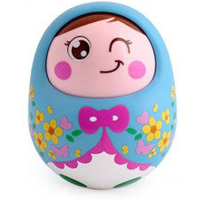 Deals, Discounts & Offers on Toys & Games - Tiny Mynee Cartoon Tumbler Doll Roly-poly For babies with Sound&Nodding head-Blue Rattle(Blue)