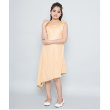 Deals, Discounts & Offers on  - Tiny ToonGirls Midi/Knee Length Casual Dress(Beige, Sleeveless)