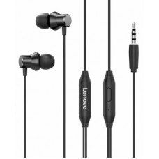 Deals, Discounts & Offers on Headphones - Lenovo HF130 Wired Headset(Black, In the Ear)