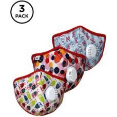 Deals, Discounts & Offers on  - IMPULSE Kids 3 Pcs 5 Layer Masks I95 Kids PO3(Multicolor, S, Pack of 3)