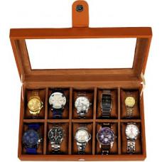 Deals, Discounts & Offers on Watches & Wallets - LeatherworldWatch Storage Box , 10 Watch Slot , Watch Organizer , Wrist Watch Watch Box(Tan, Holds 10 Watches)