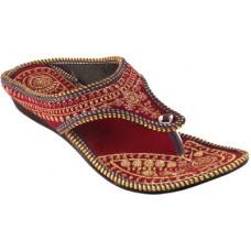 Deals, Discounts & Offers on Women - [Size 7] TAJNANWomen Red Flats Sandal