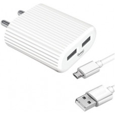 Deals, Discounts & Offers on Mobile Accessories - QUANTUM QWC-24211 12 W 2.4 A Multiport Mobile Charger with Detachable Cable(White, Cable Included)