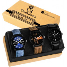 Deals, Discounts & Offers on Watches & Handbag - ClockRoomFresh combo 3 Exclusive Designer Combo Brand New Analog Watch - For Men