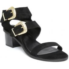 Deals, Discounts & Offers on Women - [Size 7, 8] CARLTON LONDONWomen Black Heels Sandal