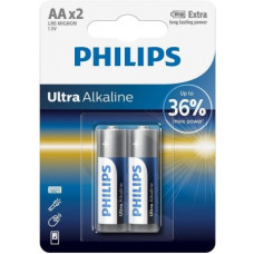 Deals, Discounts & Offers on Mobile Accessories - PHILIPS Ultra Alkaline AA Batteries, Pack of 2 Battery(Pack of 2)