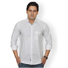 Deals, Discounts & Offers on Men Clothing - Upto 65% Offer on Lee Mark Men's Solid Casual Linen Shirt