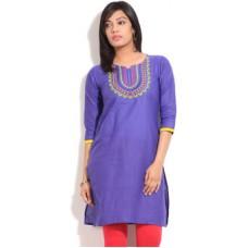 Deals, Discounts & Offers on Women Clothing - 70% OFF Tasrika Solid Women's Straight Kurta