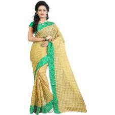 Deals, Discounts & Offers on Women Clothing - Fashionoma Self Design, Checkered Fashion Polycotton Sari