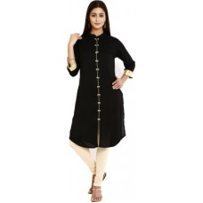 Deals, Discounts & Offers on Women Clothing - Flat 50% offer on Aaboli Solid Women's Straight Kurta