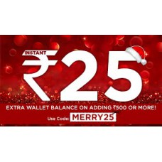 Deals, Discounts & Offers on Recharge - Rs.25 cashback on Adding Rs.500 Money to Mobikwik Wallet for Rs. 500.0 at Mobikwik