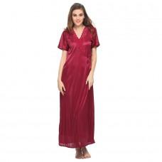 Deals, Discounts & Offers on Women Clothing - 9 PC NIGHTWEAR SET IN WINE
