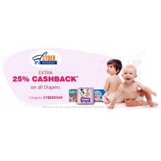 Deals, Discounts & Offers on Baby & Kids - Extra 25% Cashback  on all Diapers