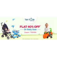 Deals, Discounts & Offers on Baby & Kids - Flat 40% OFF* on Baby Gear