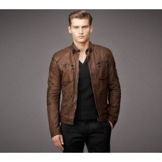 Deals, Discounts & Offers on Men Clothing - Rider Faux Leather Biker Jacket