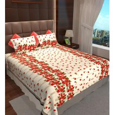 Deals, Discounts & Offers on Home Decor & Festive Needs - Flat 72% offer on Double Bedsheet with 2 Pillow Covers