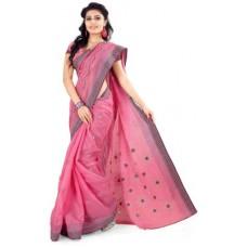 Deals, Discounts & Offers on Women Clothing - Mrsaree Embriodered Fashion Handloom Cotton Sari