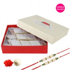 Deals, Discounts & Offers on Home Decor & Festive Needs - Get Rs.250 off on Half kg Kaju Sweets & 2 Rakhis