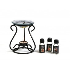 Deals, Discounts & Offers on Home Decor & Festive Needs - Hosley Oil Warmer Gift set, Includes 3 Bottles of Assorted Fragrance Oils and 3 Bonus Tealights